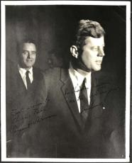 John F Kennedy Sargent Shriver Signed Autographed 8x10 Photograph Beckett BAS