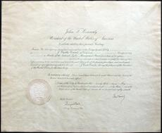 John F. Kennedy Signed 18.5x22.5 1963 Appointment Document BAS #A03669