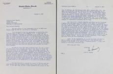 John F. Kennedy Signed 1958 2 Page Letter Discussing Al Smith BAS #A86830