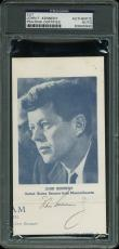 John F. Kennedy Signed 3.75x6.75 Cut Signature PSA/DNA Slabbed