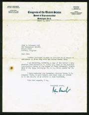 John F. Kennedy Signed 7.75x10.25 1950 Letter Signed As Congressman PSA #AB06380