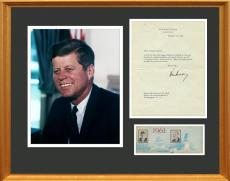 John F. Kennedy Signed White House Letter Display. Rare. JSA