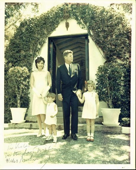 """John F. Kennedy """"With Best Wishes"""" Signed 8X10 Photo BAS #A05113"""