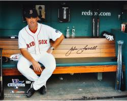 John Farrell Boston Red Sox Autographed 16'' x 20'' Bench Photograph - Mounted Memories