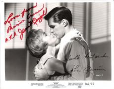 """JOHN GAVIN as SAM LOOMIS and JANET LEIGH as MARION CRANE in 1960 Movie """"PSYCHO"""" JANET Passed Away 2004 - Signed by Both 10x8 B/W Photo"""