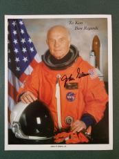 John Glenn  (2) autographed Photograph