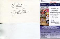 John Glenn Astronaut / Us Senator Signed Card Autograph Jsa Authenticated