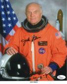 JOHN GLENN AUTOGRAPHED 8x10 COLOR PHOTO     AMAZING POSE IN SPACESUIT        JSA