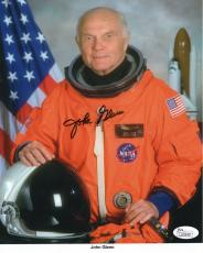 JOHN GLENN AUTOGRAPHED 8x10 COLOR PHOTO     AMAZING POSE IN SPACESUIT        JSA