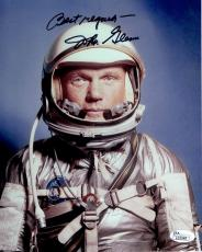 JOHN GLENN AUTOGRAPHED 8x10 COLOR PHOTO      RARE POSE IN SPACESUIT       JSA
