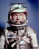 JOHN GLENN AUTOGRAPHED 8x10 COLOR PHOTO      RARE POSE IN SPACESUIT       JSA