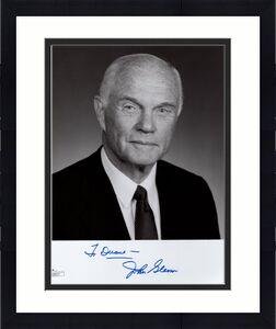 JOHN GLENN AUTOGRAPHED 8x10 PHOTO      GREAT SENATOR+ASTRONAUT    RARE       JSA