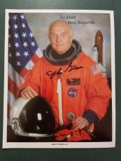 John Glenn  autographed Photograph - coa - 4