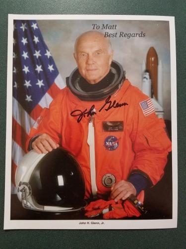 John Glenn  autographed Photograph - JSA coa - 4