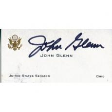 John Glenn Autographed United States Senator Business Card