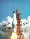 John Glenn Carpenter Schirra Cooper Auto Signature Astronauts 8x11 Photo Jsa Loa