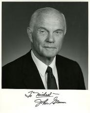 JOHN GLENN HAND SIGNED 8x10 PHOTO+COA        AMERICAN HERO       TO MICHAEL