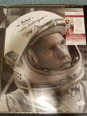 "JOHN GLENN HAND SIGNED AUTOGRAPHED 11x14 BW PHOTO JSA COA ""TO RICHARD"
