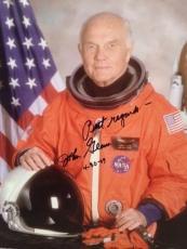 JOHN GLENN HAND SIGNED OVERSIZED 11x14 PHOTO     AWESOME+VERY RARE   NASA    JSA