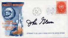 John Glenn Hand Signed Project Mercury First Day Cover From 1962     Rare    Jsa