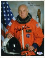 JOHN GLENN Hand Signed PSA DNA Coa 8x10 Photo Autograph Authentic