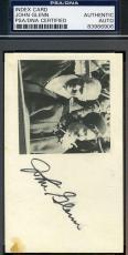 John Glenn Hand Signed Psa/dna 3x5 Index Card Authentic Autograph