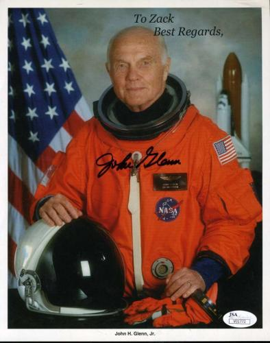 JOHN GLENN JSA CERT Hand Signed 8x10 Photo Autograph Authentic