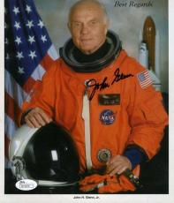 John Glenn Jsa Certed Hand Signed 7x10 Photo Authenticated Autograph