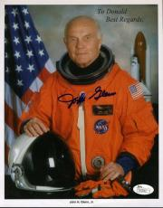 John Glenn Jsa Coa Hand Signed 8x10 Photo Authenticated Autograph