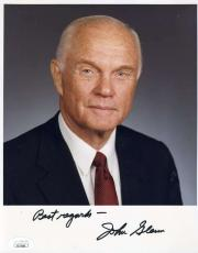 JOHN GLENN JSA COA Hand Signed 8x10 Photo Autograph Authentic