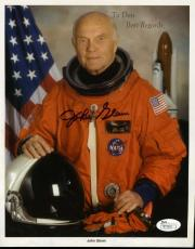 John Glenn Jsa Hand Signed 8x10 Photo Authenticated Autograph