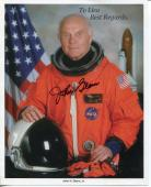 John Glenn Mercury NASA Astronaut 1st Orbit The Earth Signed Autograph Photo COA