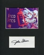 John Glenn NASA Astronaut 1st Orbit The Earth Signed Autograph Photo Display