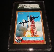 John Glenn NASA Astronaut 2011 Topps Heritage Signed SGC Certified Autograph