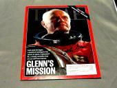John Glenn Nasa Astronaut Mercury 6 Senator Signed Auto 1999 Time Magazine Jsa