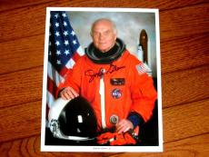 John Glenn Nasa Astronaut Mercury 6 Senator Signed Auto 8x10 Photo Jsa Authentic