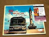 John Glenn Nasa Astronaut Mercury 6 Senator Signed Auto Nasa Magazine Jsa