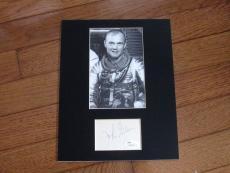 John Glenn Nasa Astronaut Mercury Senator Signed Auto Matted Photo & Index Jsa
