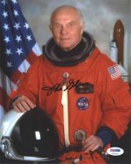 John Glenn NASA Autographed Signed 8x10 Photo Certified Authentic PSA/DNA COA