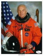 John Glenn Nasa Issued Jsa Authenticated Signed 8x10 Photo Autograph