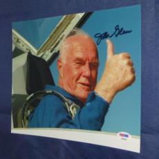 John Glenn Rare! Signed 8x10 Photo Nasa Space Autographed Ip Psa/dna Cert