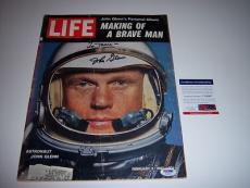 John Glenn Senator,astronaut Psa/dna Signed Life Magazine