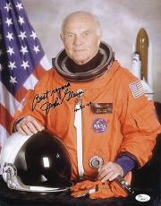 John Glenn Signed 11x14 Photo Dated 4/30/2009 Mercury Seven Jsa Coa H84550