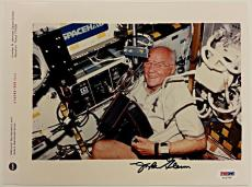 JOHN GLENN Signed 8x10 Photo Aviator US Senator NASA Mercury Auto PSA/DNA COA