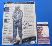 JOHN GLENN SIGNED 8x10.5 MAGAZINE PAGE ~ JSA Cert R20648 NASA MERCURY ASTRONAUT