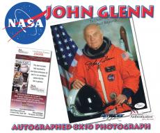 JOHN GLENN Signed ASTRONAUT NASA Autographed 8x10 PHOTO - JSA #I84588