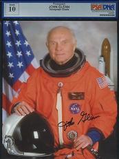 John Glenn Signed Autographed 8x10 NASA Photo PSA/DNA LOA AUTHENTIC MInt 10