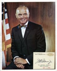 John Glenn Signed Autographed 8x10 Photo w AUTO CARD PSA DNA C20233