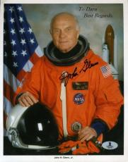 John Glenn Signed Bas Beckett 8x10 Photo Authenticated Autograph