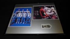 John Glenn Signed Framed 16x20 Photo Set JSA NASA